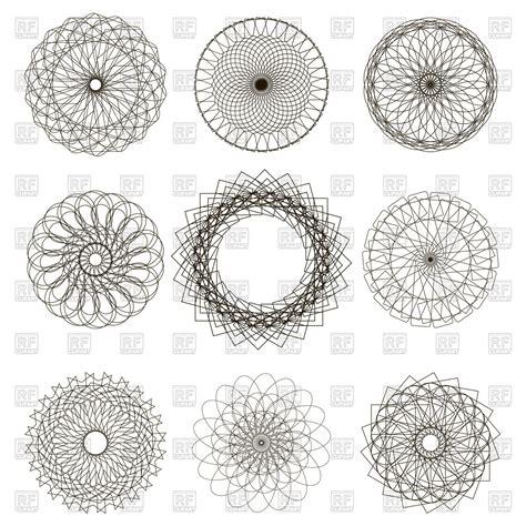 geometric ornaments set of circle geometric ornaments vector image 111086