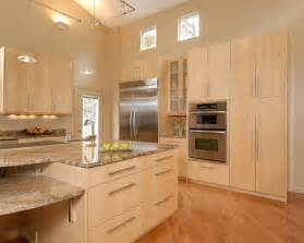 Light Maple Kitchen Contemporary Kitchens With Light Maple Cabinets 3223 Home And Garden Photo Gallery Home And