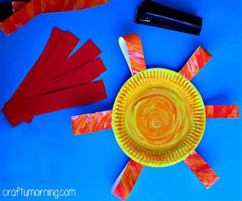 Paper Plates Crafts For Toddlers - paper plate flower craft for crafty morning