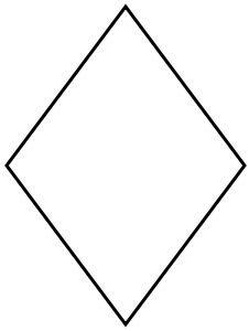 Pattern Belah Ketupat shapes lesson for study