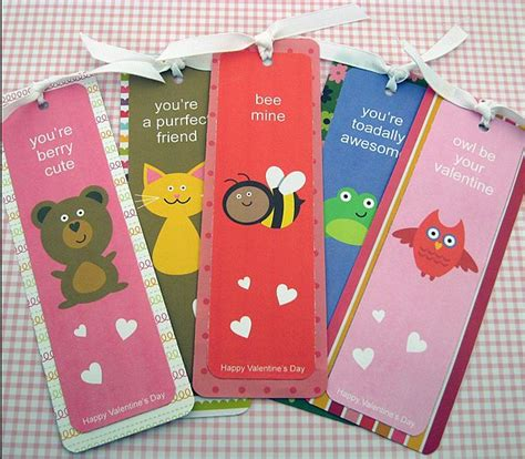 valentines bookmarks bookmark the 48 best noncandy ideas