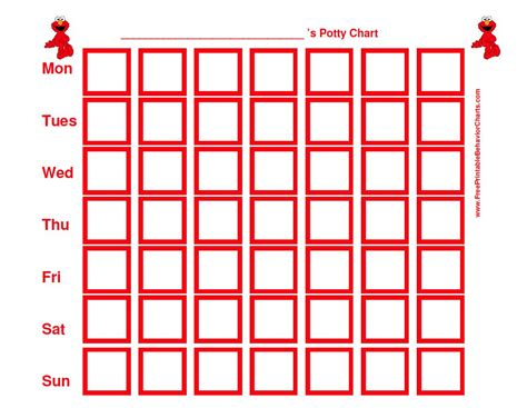 elmo potty chart bing images