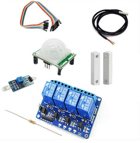 raspberry pi home automation sensors kit