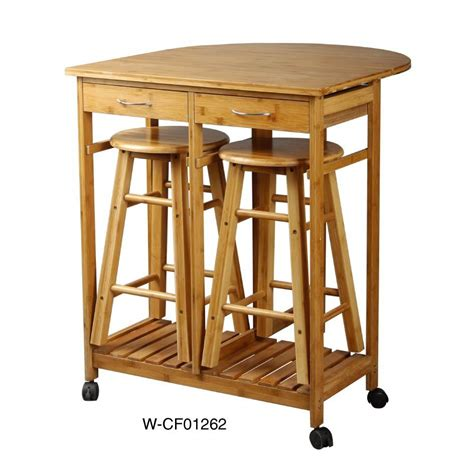 China Kitchen Trolley Made In Bamboo Mdf W Cf01314 Kitchen Trolley With Stools