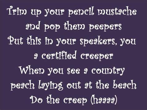 lyrics creeper the lonely island ft nicki minaj the lyrics