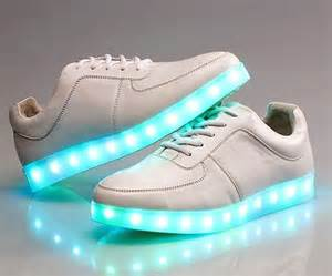 led light up led shoes sneakers white trainers vans style