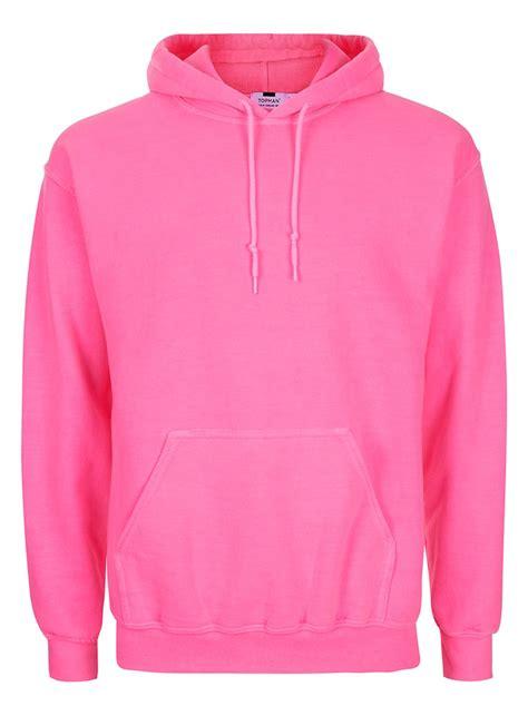Hoodie Neon neon pink hoodie topman