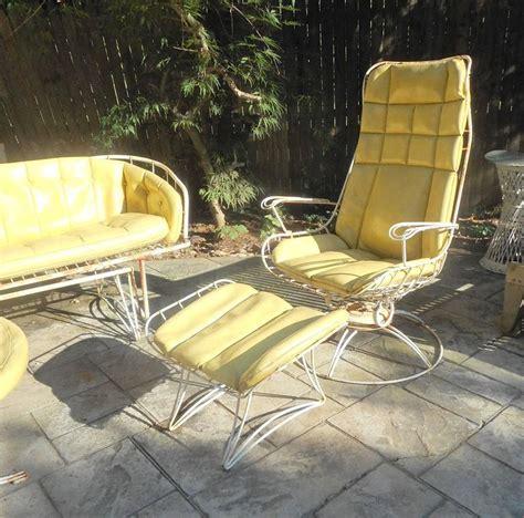 Mid Century Modern Five Piece Wrought Iron Homecrest Patio Mid Century Modern Patio Furniture