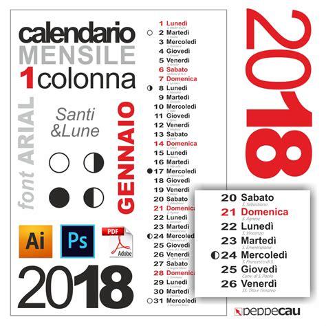 Calendario 2018 Festivit Calendario Mensile Gennaio 2018 Calendario Mensile Gennaio