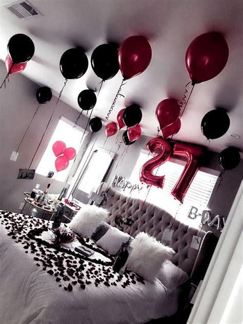 romantic surprise birthday bedroom  boyfriends