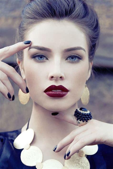 dark red lipsticks on pinterest fashion fair makeup stunning deep red lipstick hair makeup pinterest