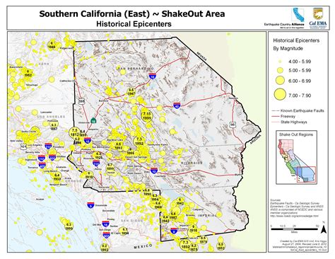 california map earthquake faults southern california fault lines map california map