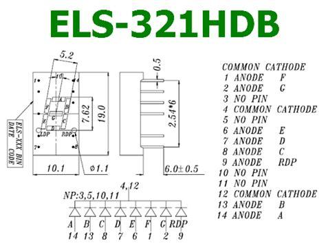 els hdb datasheet   digit segment everlight