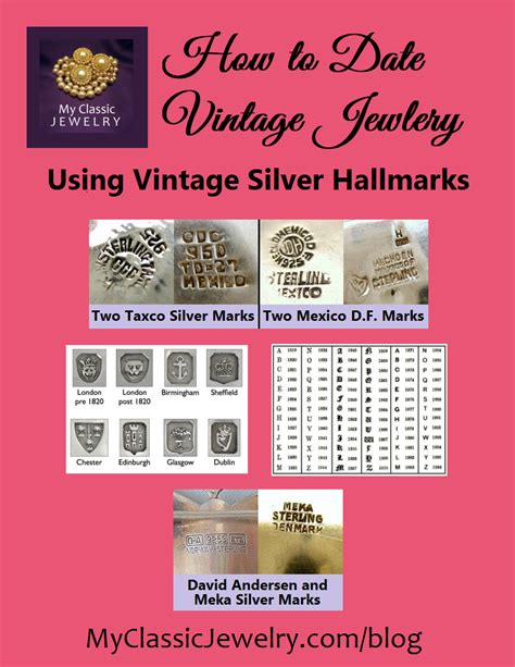 silver jewelry marks learn to identify and date silver