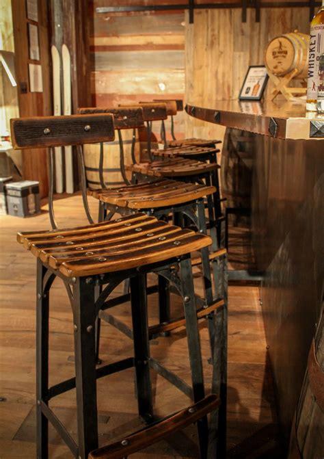 Vintage Whiskey Barrel Bar Stools by Whiskey Barrel Bar Stools Architecture Taawp Vintage