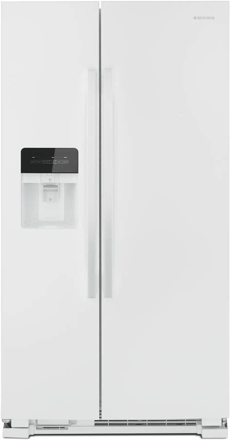Freezer Mini Asi amana asi2175grw 33 inch side by side refrigerator with temp assure external dispenser dairy