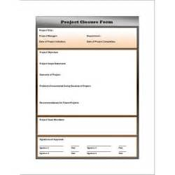 closure report template free project closure report form and use for