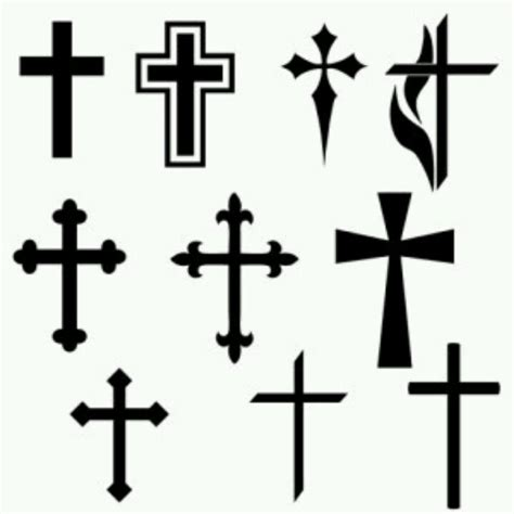 black cross tattoos design stencil tattoos