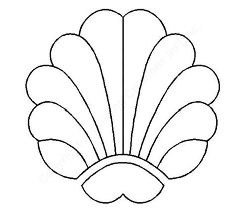 printable seashell stencils seashell stencils clipart best