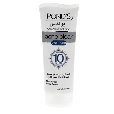 Ponds Clear Solution Fc Scrub 100g buy ponds acne clear even tone multi foam