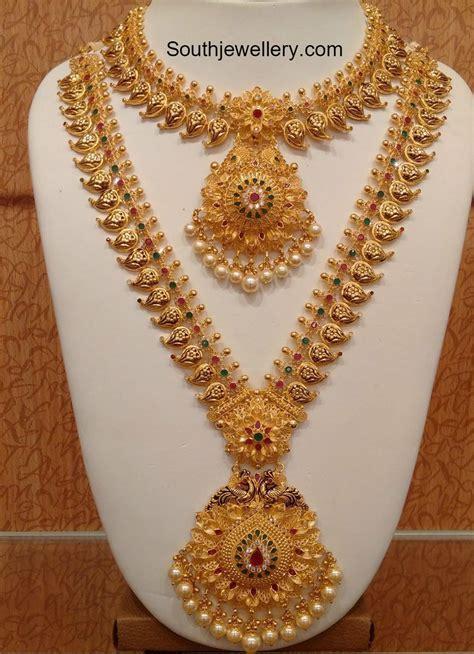 Mango Necklace and Long Haram Set photo   Indian Jewelry