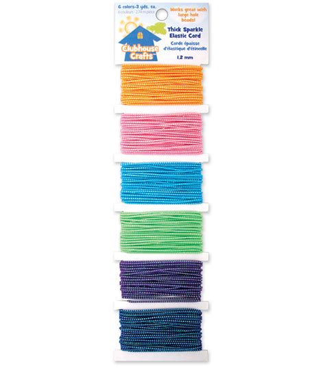 Papercraft Clubhouse - sulyn clubhouse crafts thick sparkle elastic cord 6 colors