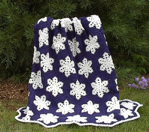 crochet snowflake pattern worsted weight yarn snowflake afghan allfreecrochetafghanpatterns com