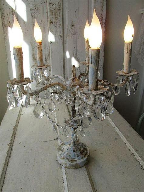 candelabra lighting table chandelier distressed