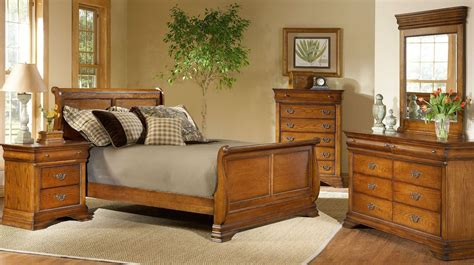 American Oak Bedroom Furniture Shenandoah American Oak Youth Sleigh Bedroom Set From