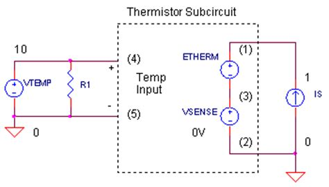 measure voltage across resistor ltspice ntc thermistor model