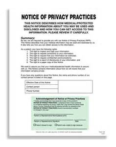 notice of privacy practices template hipaa notice of privacy practices hipaa forms