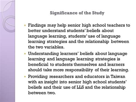 significance of the study in research paper how to make significance of the study in research paper