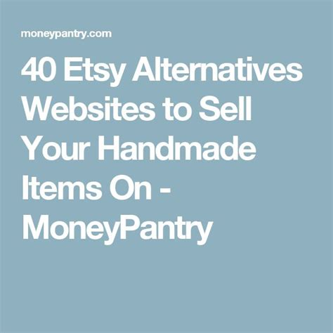 Handmade Selling Websites - 40 etsy alternatives websites to sell your handmade items