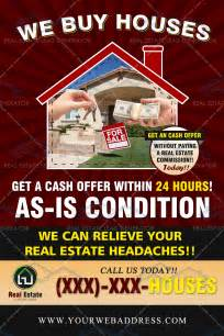 we buy houses business cards we buy houses custom mailer real estate lead generator