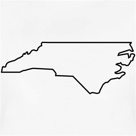 Carolina Outline by Carolina Map Landmap Land Country Outline T Shirt Spreadshirt