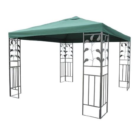 leaf pattern gazebo outsunny 10 x 10 steel gazebo frame leaf design home