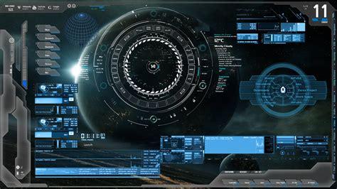 rainmeter themes kali linux blue tech future tech rainmeter zerox project by