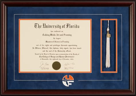 Uf Professional Mba South Florida by Of Florida Diploma Frame With Logo And Tassel