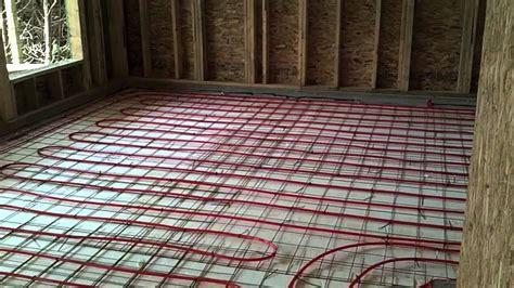 radiant flooring c w plumbing