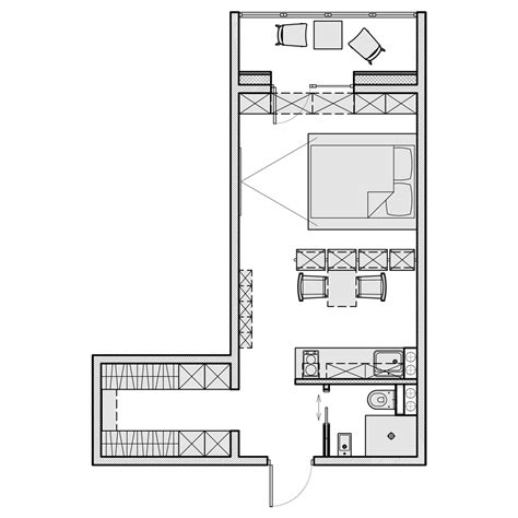 500 sf apartment floor plan 3 beautiful homes under 500 square feet