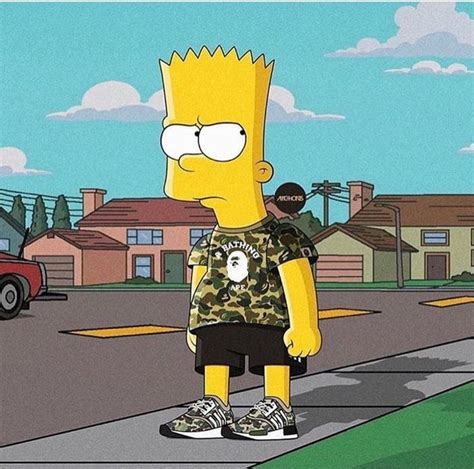 pin by daime on pinterest bart bart simpson hype bape adidas hypebeast pinterest