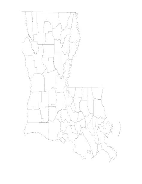 Louisiana Parish Map Blank