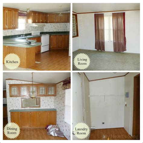 mobile home remodel before and after home design and