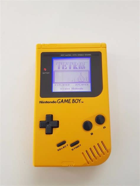 gameboy color backlight nintendo gameboy original yellow play it load with