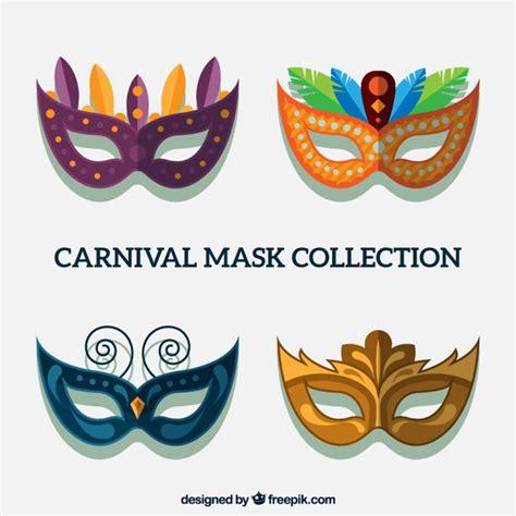 layout editor mask design several carnival masks in flat design vector free download