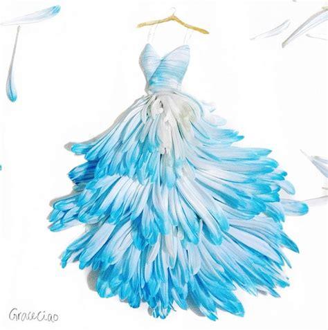 design art fashion storm abiti con petali di fiori gli sketch di grace ciao