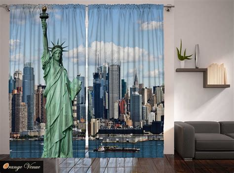 americana curtains classroom 4th july statue liberty new york manhattan