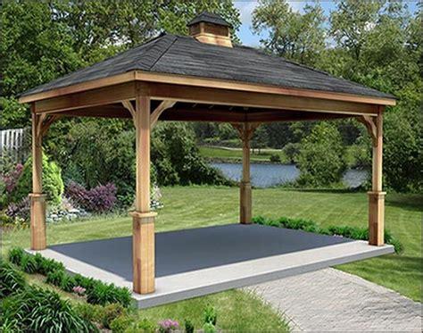 gazebo creations cedar gable roof open rectangle pavilions pavilions