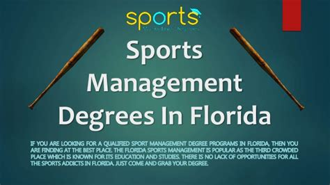 Of Central Florida Mba Sports Management by How To Get Sports Management Degree In Florida