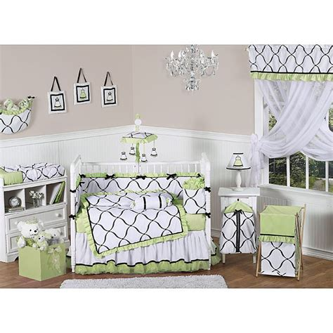 White Nursery Bedding Sets This Adorable Crib Bedding Set Proves That A Nursery Can Be Girly Without Being Pink The Sets